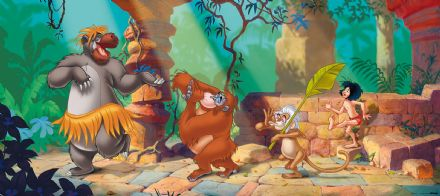 Disney Jungle Book Panoramic mural wallpaper 202x90cm
